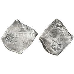 Mexico City, Mexico, cob 8 reales, 1689/8L, extremely rare, ex-1715 Fleet.