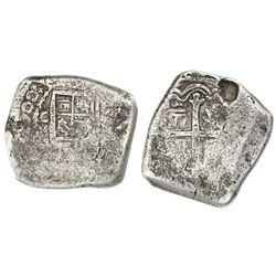 Mexico City, Mexico, cob 8 reales, (1)700(L), extremely rare.