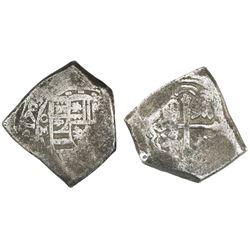 Mexico City, Mexico, cob 8 reales, 1703L, rare.