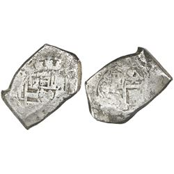 Mexico City, Mexico, cob 8 reales, (170)4L, rare.