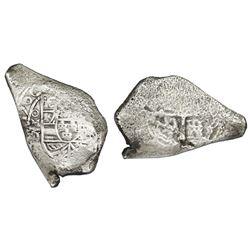 Mexico City, Mexico, cob 8 reales, 1706J, rare, ex-1715 Fleet.