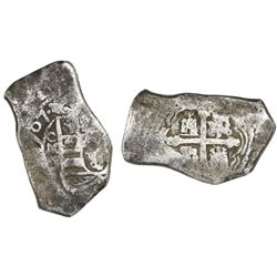 Mexico City, Mexico, cob 8 reales, 1707J, rare.
