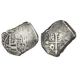 Mexico City, Mexico, cob 8 reales, 1708J, rare, ex-1715 Fleet.