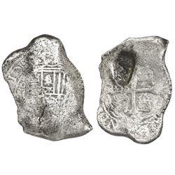 Mexico City, Mexico, cob 8 reales, (17)10(J), rare, ex-1715 Fleet.