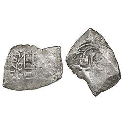 Mexico City, Mexico, cob 4 reales, 1709J, rare, ex-1715 Fleet.