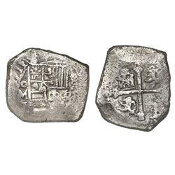 Mexico City, Mexico, cob 4 reales, 1711J, rare, ex-1715 Fleet.