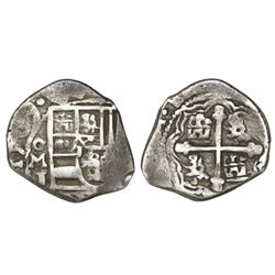 Mexico City, Mexico, cob 2 reales, 1709J, rare.