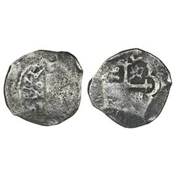 Mexico City, Mexico, cob 2 reales, 1714J, ex-1715 Fleet.