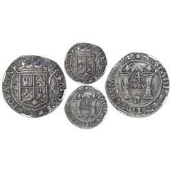 Mexico City, Mexico, 4 reales, Charles-Joanna,  Early Series,  assayer R (Latin) at bottom between p