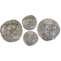 "Mexico City, Mexico, 4 reales, Charles-Joanna, ""Early Series,"" assayer P over erased R (Latin) at bo"