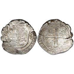 Mexico City, Mexico, cob 8 reales, 161(?)F.