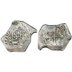 Mexico City, Mexico, cob 8 reales, 1710J, rare.