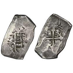 Mexico City, Mexico, cob 8 reales, 1712J.