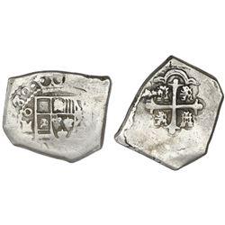 Mexico City, Mexico, cob 8 reales, 1730F, rare.