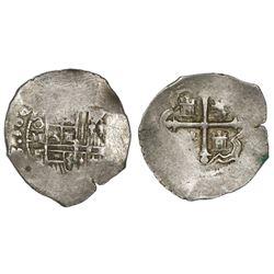 Mexico City, Mexico, cob 1 real, 1610/09F, rare.