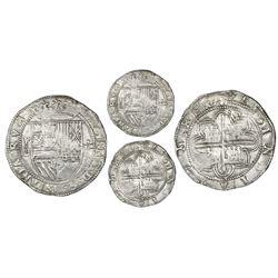 Potosi, Bolivia, cob 8 reales, Philip II, assayer L (1st period), rare.