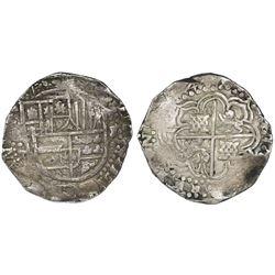 Potosi, Bolivia, cob 8 reales, (16)45(?)T.
