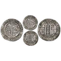 Potosi, Bolivia, cob 8 reales Royal (galano), 1672E.