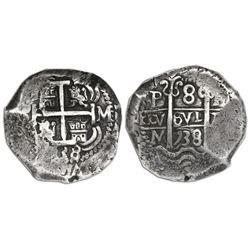 Potosi, Bolivia, cob 8 reales, 1738M, NGC VF 35.