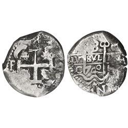 Potosi, Bolivia, cob 8 reales, 1742C, NGC VF 35.