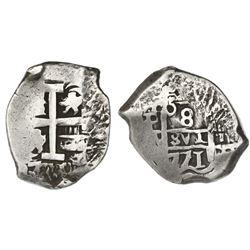 Potosi, Bolivia, cob 8 reales, 1771/0(V-Y).