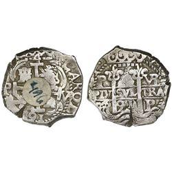 Potosi, Bolivia, cob 4 reales, 1691VR, ex-Sellschopp.