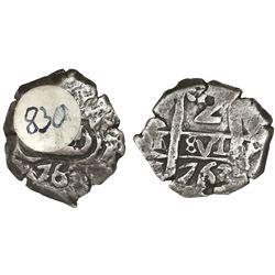Potosi, Bolivia, cob 2 reales, 1763V-Y, ex-Sellschopp.