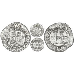 Santo Domingo, Dominican Republic, 2 reales, Charles-Joanna, assayer F to left, mintmark S to left a