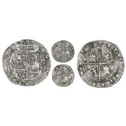 Panama, cob 1 real, Philip II, assayer oX below denomination I to right, mintmark AP to left, king's