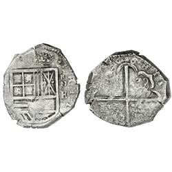 Cartagena, Colombia, cob 8 reales, 1626, assayer E below mintmark RN to right, extremely rare (unlis