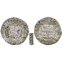 Burgos, Spain, 1 real, Ferdinand-Isabel (pre-1497 type), rare, with unidentified (unique) countermar