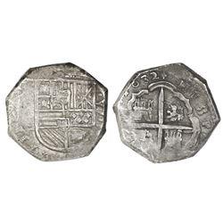 Toledo, Spain, cob 8 reales, 1632(P), rare.