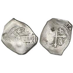 Indonesia(?), unidentified countermark in Malay Arabic script plus chopmark on a Mexico City, Mexico