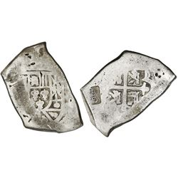 """Sumenep (Madura Island), Indonesia / southeast Asia), 1 real batu (1814), countermark """"Sumenep"""" in M"""