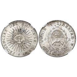 Argentina (River Plate Provinces), Potosi mint, 8 reales, 1813J, NGC MS 63+.