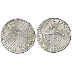 Argentina (River Plate Provinces), La Rioja mint, 4 soles, 1828P.