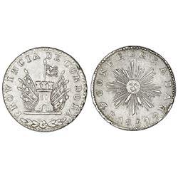 Cordoba, Argentina, 4 reales, 1851, small sunface.
