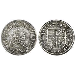 Austria (Holy Roman Empire), taler, Maximilian III, 1618, Hall mint.