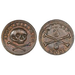 Liege, Belgium, bronze church token, undated (ca.1650).