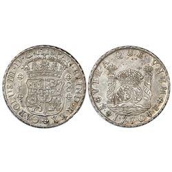 Potosi, Bolivia, pillar 8 reales, Charles III, 1770/69JR, no dot after king's name, NGC AU 55.
