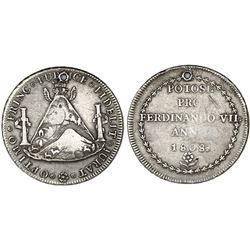 Potosi, Bolivia, 8 reales-sized silver proclamation medal, Ferdinand VII, 1808.