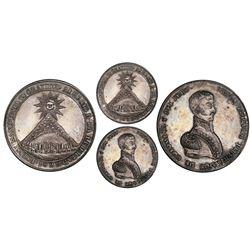 Potosi, Bolivia, 10 soles, 1825, Bolivar, PCGS MS63.