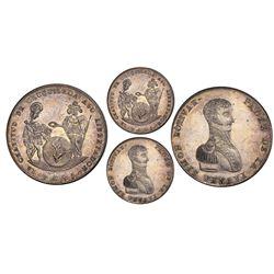 Potosi, Bolivia, 10 soles, 1825, Bolivar, Chuquisaca issue, PCGS MS64.
