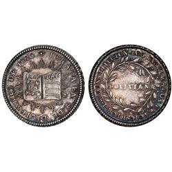 Potosi, Bolivia, 1 sol, 1826, Constitution, PCGS MS60.