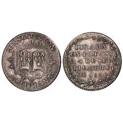 Potosi, Bolivia, 1 sol, 1831, Constitution, PCGS MS63.