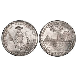 Potosi, Bolivia, 2 soles, 1838, Santa Cruz's victories at Yanacocha and Socabaya, PCGS MS66.