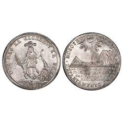 Potosi, Bolivia, 2 soles, 1838, Santa Cruz's victories at Yanacocha and Socabaya, PCGS MS66.