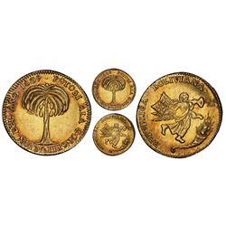 Potosi, Bolivia, gold 1 scudo, 1839, Constitution, PCGS AU58, ex-Eliasberg (stated on label).