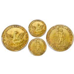 Potosi, Bolivia, gold 1 scudo, 1839, phoenix, PCGS MS63.