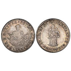 Potosi, Bolivia, 1 sol, 1840, President Velasco, PCGS MS62.